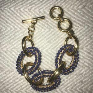 Blue and Gold Banana Republic Chain Bracelet